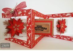 A card made with the Die'sire Accordion dies from Crafter's Companion. #crafterscompanion