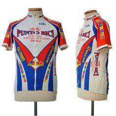 vintage BIEMME Punto Bici Aprilia cycling biker Top racing jersey size L Italy #Biemme Online Price, Cycling, Italy, Vintage, Tops, Fashion, Biking, Moda, Italia