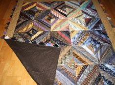 Necktie Quilt made using 40 neckties by Quiltsfromclothes on Etsy