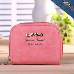 Fashion Women Little Mustache Frosted Pu Leather Wallet Lady Handbag Bags Hot