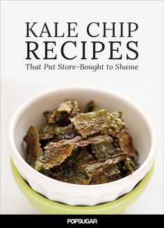 Kale isn't just a super-nutritious snacking staple, but it's also super easy to spice up with flavors that will make you wonder why you ever chose store-bought. If you're in the mood for cheese or perhaps a little bit of bacon, the variety of kale chip recipes we've rounded up are sure to satisfy any craving, minus the guilt!