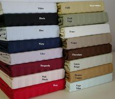 California King Stripe 600 Thread count 100% Egyptian cotton Sheet sets $89.99 www.scotts-sales.com