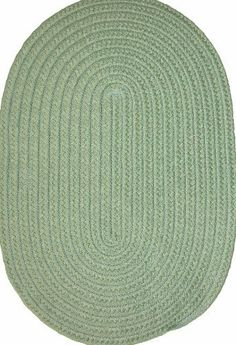 """Veranda 27"""" x 48"""" Braided Rug in Lime Green by Constitution Rugs LLC. $51.60. Reversible for added wear. indoor/outdoor braided rug. Manufactured 100% in the U.S.A. 100% polypropylene double flat braid construction. The """"everywhere-rug"""" perfect for patio, poolside, boat and dock, porch or balcony, and garage, as well as indoor den, kitchen, family room etc!"""
