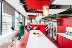 Google Dublin - This self-serve 'free food and drink' cafe is standard fare within the offices