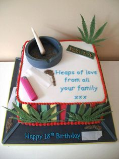 14 best Stoner cake ideas images in 2014   Birthday ideas, Food ...