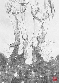 More awesome sketches by character designer Saito Tsunenori.