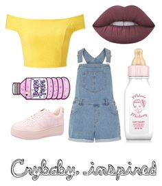"""""""Melanie Martinez look"""" by zozo160901 on Polyvore featuring Lime Crime, Dorothy Perkins and Miss Selfridge"""