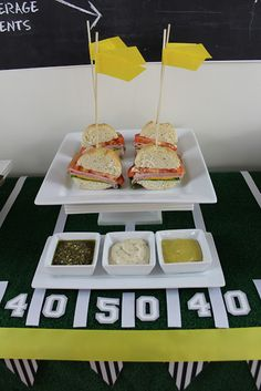 """Birthday Party Blog: """"Tackle Your Appetite"""" Super Bowl Party Idea"""