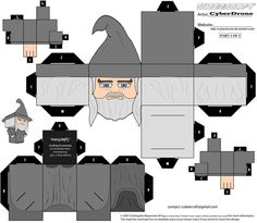 An Eagle's View of Middle-earth - Cubeecraft Gandalf the Grey from CyberDrone