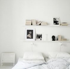 shelving above bed