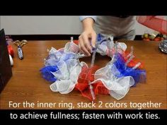 David Elder shows you how to make a Patriotic Deco Mesh Wreath #how-to #video #july4th.