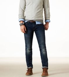 American Eagle jeans. I like the skinny style, size is 33/32.
