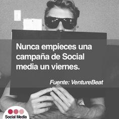 Nunca empieces una campaña de Social un viernes Online Marketing, Ecommerce, Social Media, Socialism, Friday, Social Networks, E Commerce, Social Media Tips
