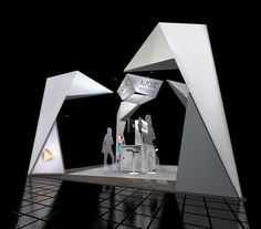 This is a design created for the devision of Mitsubishi called Alpolic. They were looking for an origami like styled booth space.
