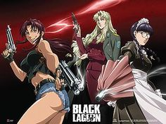 Black Lagoon Wall Scroll - Revy, Balalaika & Roberta [LONG]