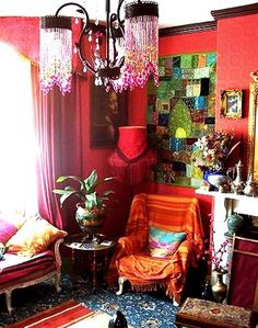 Colorful boho room   #bohemian ☮k☮ #boho
