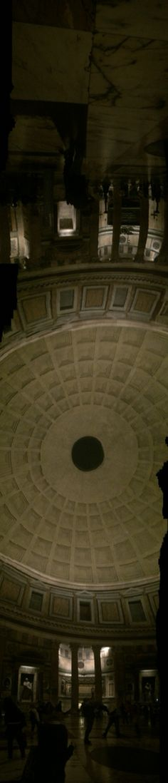 Panorama picture of Pantheon in the dark
