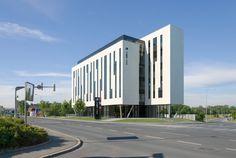 Architektur Visualisierung des Tomo-Tec Headquarter in Graz New Age, Multi Story Building, Graz, Architecture Visualization