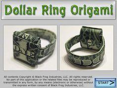 Dollar Ring Origami Books Bill Into Ring Origami