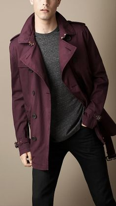 Short Cotton Twill Trench Coat | Burberry