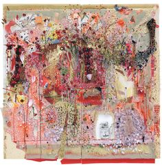 Artist Elliot Hundley fuses a dizzying array of media in his epically scaled, deeply immersive tableaux Abstract Drawings, Art Drawings, Abstract Art, Abstract Images, Abstract Paintings, Abstract Landscape, Collage Art Mixed Media, Collage Artists, Assemblage Art