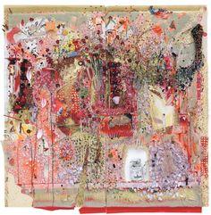 Elliott Hundley's Mixed-Media Artworks
