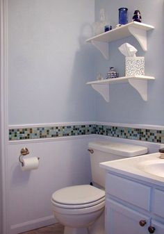 For bathroom re-do in rental.  Use the 4x4 shower tile to tie it all together...or maybe some coordinating accent pieces.