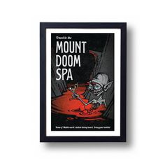 Lord of the Rings Poster Gollum Mount Doom Spa Travel Poster
