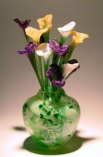 Art glass flowers by Atlantic Art Glass.