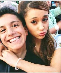 Lohanthony and Ariana grande>>>this is like my favorite photo ever bc it has my two fave people :)