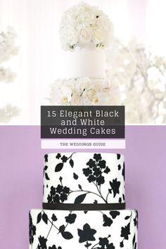 Elegant Black and White Wedding Cakes #rusticcakes Pretty Wedding Cakes, Wedding Cake Rustic, Amazing Wedding Cakes, Black And White Wedding Cake, White Wedding Cakes, Dream Wedding, Place Card Holders, Elegant, Wedding Ideas