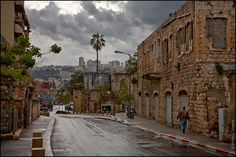 This photo from Haifa, Haifa is titled 'Rainy Haifa. Israel Palestine, Portrait Sketches, World Globes, Beautiful Places In The World, Holy Land, New Perspective, Our World, Street View, The Good Place