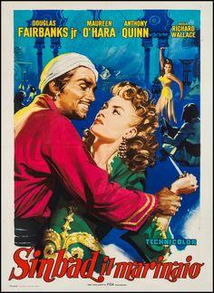 "Movie Posters:Adventure, Sinbad the Sailor (Fida Cinematografica, R-1961). Italian 2 -Foglio (39"" X 55""). Adventure.. ... Image #1"