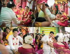 Tambrahm weddings are always fun, especially when there is a cheerful crowd around. Take a look at the pictures from one of the recent big fat weddings. Indian Wedding Photos, Wedding Couple Photos, Wedding Couples, South Indian Weddings, South Indian Bride, Bridal Looks, Bridal Style, Indian Bridal Hairstyles, Before Us