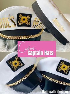 Say goodbye to the boring old captain hats...& say hello to these new and improved captain hats! These captain hats will give you & your crew that sexy captain look when you wear them adding alot of fun to your nautical bachelorette party! . . . . . #bachelorette #bridegift #nauticalhat #captainhat #sailorhat #bridecaptainhat #nauticalbachelorette #sailorhat #cruisebride #nauticalbride #cruisebridegift #cruisewedding #cruiseshipwedding #bridesmaidgift #bachelorettehat #nauticalweddingfavors