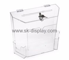 Acrylic Display Manufacturers Custom Acrylic Plexiglass Display Case Locked  Donation Boxes DBS 186