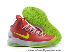 sale retailer b603b 408e8 See more. Nike Zoom KD V Rouge Blanc Vert Vente Discount Nikes, Baskets Nike,  Green Basketball
