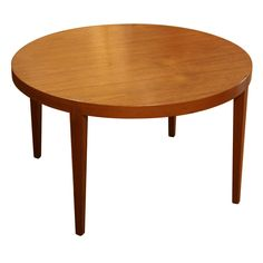 Danish Modern Circular Coffee Table by Severin Hansen for Haslev