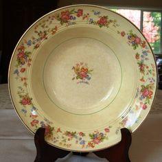 Salem China Serving Bowl Antique Debutante 23 Karat Gold  | QuiltTops - Kitchen & Serving on ArtFire
