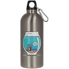 2 LOST SOULS 23624 Stainless Steel Silver Water Bottle
