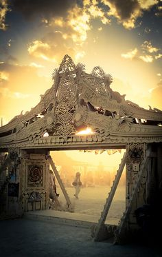 View from the gate of the Temple of Juno - Burning Man 2012