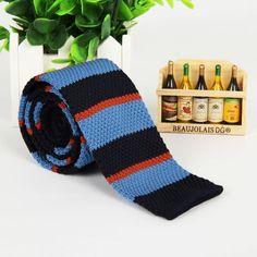 Flat Head Striped Necktie