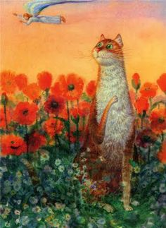 Vladimir Rumyantsev and His Charming Cats ~ Blog of an Art Admirer