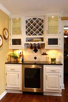 Beverage center on pinterest wet bars butler pantry and for Convert kitchen desk to pantry