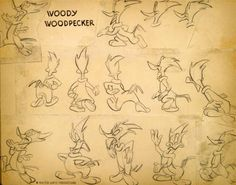‪Woody Woodpecker production art. The character was created in 1940 by Walt Lantz, who received a special Academy Award for it in 1979. ‬