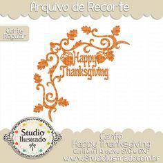 Happy Thanksgiving Corner, Canto Happy Thanksgiving, Dia de Ação de Graças, Jantar, Comida, Frutas, Legumes, Milho, Avelã, Trigo, Farinha, Colheita, Plantação, Peru, Abóbora, Fazenda, Flourish, Flourishes, Arabescos, Swirls, Day of Thanksgiving, Dinner, Food, Fruit, Vegetables, Corn, Hazelnut, Wheat, Flour, Harvesting, Planting, Plenty, Turkey, Pumpkin, Farm, Scrolls, Smash, Corte Regular, Regular Cut, Silhouette, Arquivo de Recorte, DXF, SVG, PNG