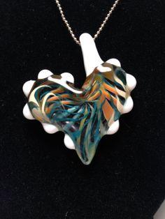 Beautiful Heart Pendant by JABGLASSART on Etsy, $25.00