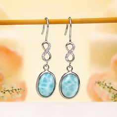 Larimar Hook Earrings