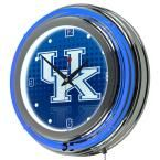 University of Kentucky 14 in. x 14 in. Reflection Round Neon Wall Clock, Blue
