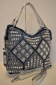 NEW Rhinestone Geometric Design Fashion Handbag   eBay
